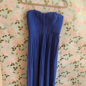 PARKER ROYAL BLUE GOWN / MAXI STRAPLESS SWEETHEART